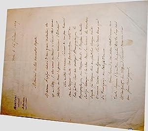Lettre Autographe signée à entête du Moniteur universel signée. Sauvo: ...