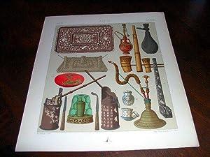 Lithographie en couleurs répresentantnécessaire du fumeur annamite,: INDEPERSEJAVA