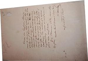 Lettre autographe signée de Jean Baptiste Balthazar Sauvan adressée à: SAUVAN ...