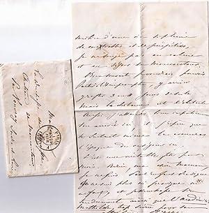 Lettre manuscrite signée par Philippe de Massa, adressée à sa mère ...