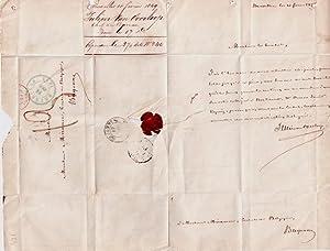 Lettre autographe signée de Julien Van Overloop, adressée au Consul de: VAN OVERLOOP