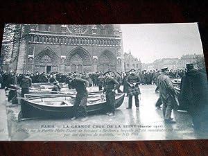 138 PARIS LA GRANDE CRUE DE LA SEINE (Janvier 1910). Arrivée sur le: Carte Postale