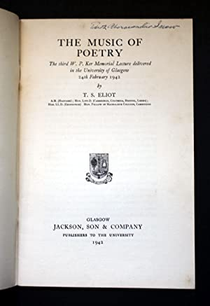 The Music of Poetry: T. S. Eliot