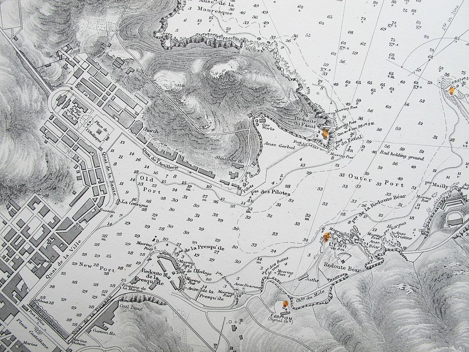 1842 FRANCE PORT & ROADSTEAD OF PORT-VENDRES