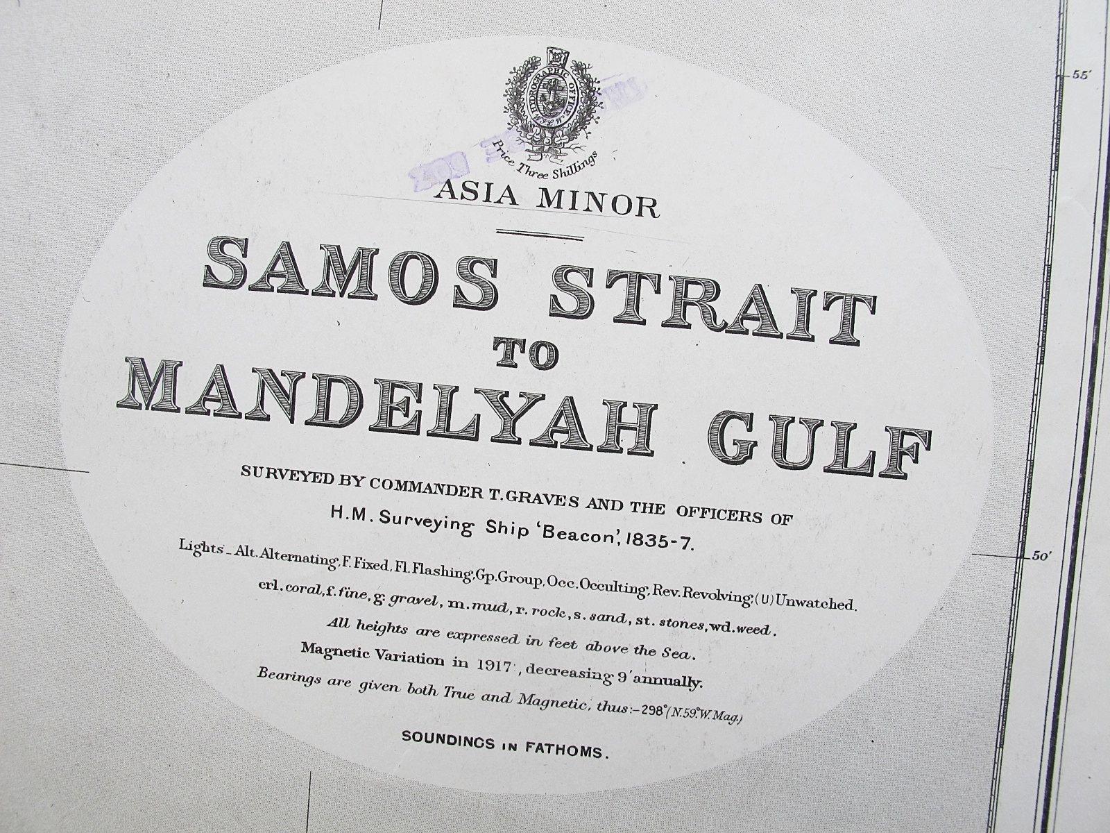 1835-7 SAMOS STRAIT TO MANDELYAH GULF TURKEY