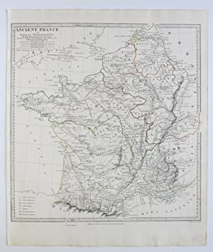 SDUK MAP ANCIENT FRANCE GALLIA TRANSALPINA 1831