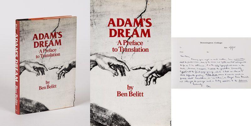 Adam's Dream. A Preface to Translation.