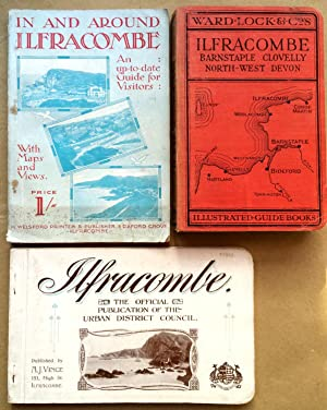 ILFRACOMBE 3 pre-WWII Guides: Ilfracombe, Barnstaple, Bideford, Woolacombe & NW Devon, Pictorial ...