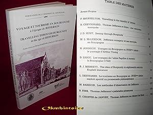 Voyage et Tourisme en Bourgogne à l'époque de Jefferson . ---------- TRAVELLING ...