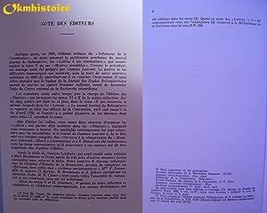 Oeuvres de Maximilien Robespierre. --------- Volume 5 : Les journaux (Lettres de Maximilien ...
