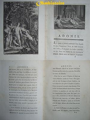 Adonis.: Fréron ( Elie ) & [ Catherine & Colbert Duc d'Estouteville. ]