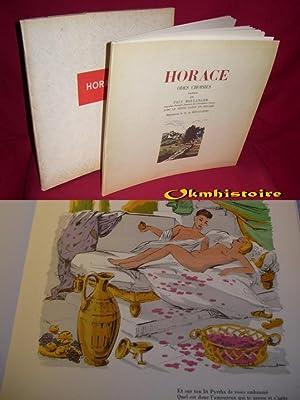 HORACE . Odes choisies . Avec le Texte latin en regard --------- illustrations couleurs de H. de ...