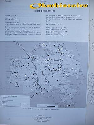 Carte archéologique de la Gaule --------- 94 - VAL-DE-MARNE: NAUDET ( François ) [ et ...