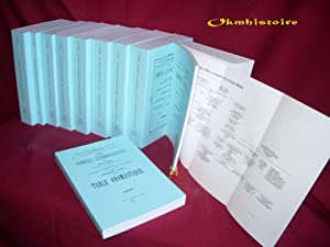 Les communes luxembourgeoises. --------- Reproduction anastatique en 10 volumes brochés
