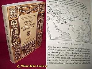 Essai sur les origines Russes . --------- TOME 1: VERNADSKY ( Georges ) [ prof. à l'Univ. de Yale. ...