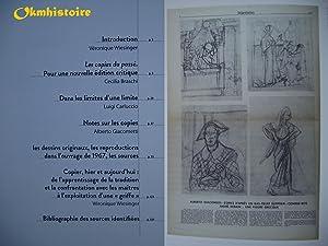 Alberto Giacometti : Les copies du passé: Cecilia Braschi & Luigi Carluccio & Véronique ...