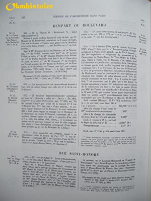 Terrier de la censive de l'archevêché dans Paris (1772 ) -------- TOME 2 en 2 ...