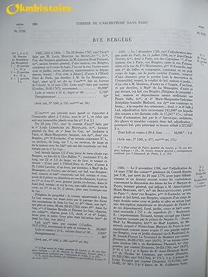Terrier de la censive de l'archevêché dans Paris (1772 ) - Série compl&...