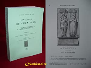 EPITAPHIER DU VIEUX PARIS , Recueil général des inscriptions funéraires des &...
