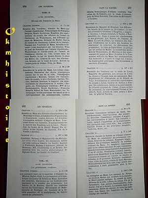 Les Vendéens dans la Sarthe. ------------- 3 Volumes /3 [ Réédition broch...