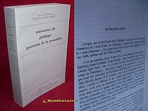 Mémoires de Philippe Gourreau de la Proustière . Chanoine de Saint-Victor de Paris et...
