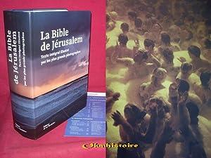 La Bible de Jérusalem: Ecole biblique de