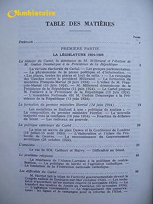 HISTOIRE POLITIQUE DE LA TROISIÈME RÉPUBLIQUE ------ Tome 4, Cartel des gauches et ...