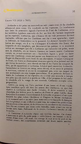 La chanson d'Antioche -------- Tome 2 , Etude critique: DUPARC-QUIOC ( Suzanne )