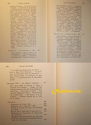Histoire des maronites ------ Tome 2 seul : Les Maronites sous les Ottomans - Histoire civile d&#...