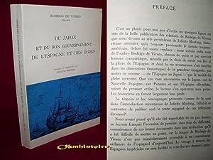 Du Japon et du bon Gouvernement. De l'Espagne et des Indes . ( RODRIGO, DE VIVERO 1564 - 1636 ...