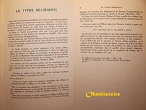 """Le """" Typus religionis"""" : description d'un tableau conservé au Musée de..."""