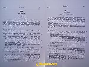Recueil des Actes de LOUIS VI , Roi de France ( 1108-1137 ) . ------------- Volume 2 seul [ 1126-...