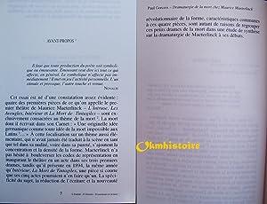 Dramaturgie de la mort chez Maurice Maeterlinck essai, suivi de Maurice Maeterlinck, Les Aveugles (...