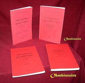 Annales historiques de la Révolution Française -------- 4 Volumes / 4 --------- ...