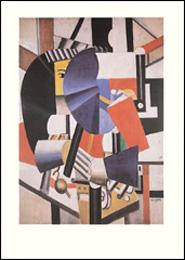 Gravure ] - LA FEMME AU MIROIR, 1920 par Fernand LEGER -------- Reproduction imprimée en ...