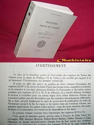 Registres du Trésor des Chartes ( Inventaire analytique ) . RÈGNE DE PHILIPPE DE ...