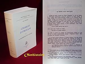 Charles d'Orléans ou la recherche d'un langage.: PLANCHE ( Alice )