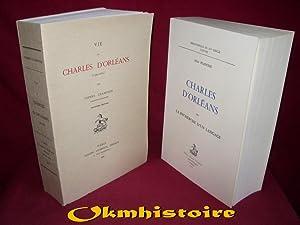 1 lot de 2 volumes : Vie de Charles d'orléans & Charles d'Orléans ou la...
