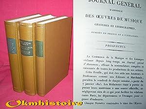 JOURNAL GÉNÉRAL D'ANNONCES DES ŒUVRES DE MUSIQUE, GRAVURES LITHOGRAPHIES, publi&...