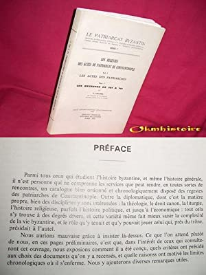 Les Regestes des Actes du Patriarcat de: Grumel ( V.