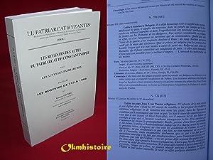 Les Regestes des Actes du Patriarcat de: GRUMEL ( Venance