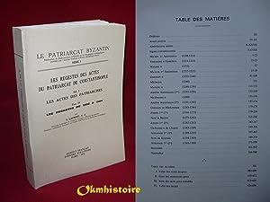 Les Regestes des Actes du Patriarcat de: LAURENT ( V.