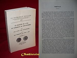 Les Regestes des Actes du Patriarcat de: Darrouzès (Jean )