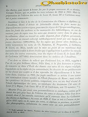 Recueil des actes de Louis II le Bègue, Louis III et Carloman II, rois de France ( 877-884 )...