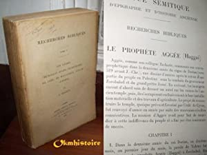 Les livres de Haggaï ( aggée ) de Zacharie , de Joël , de malachie , d'Isa&...