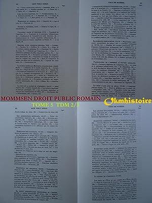 LE DROIT PUBLIC ROMAIN . Manuel des Antiquités romaines. Traduit sur la deuxième &...