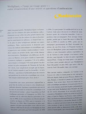 Amedeo Modigliani : L'Ange au visage grave: NITTI ( Patrizia ) & RESTELLINI ( Marc ) [ sous la...