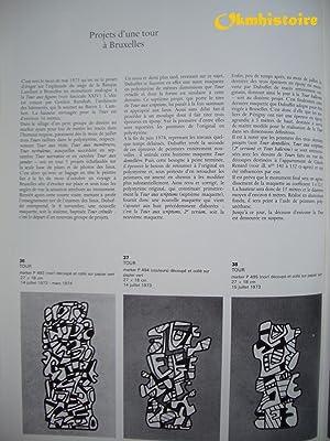 Catalogue des Travaux de Jean DUBUFFET. --------- Fascicule XXVIII ( 28 ) : Roman Burlesque, Sites ...
