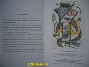 JOAN MIRO Lithographe -- TOME 6 : 1976 - 1981 [ Catalogue Raisonné, ] --- [ Texte Fran&...