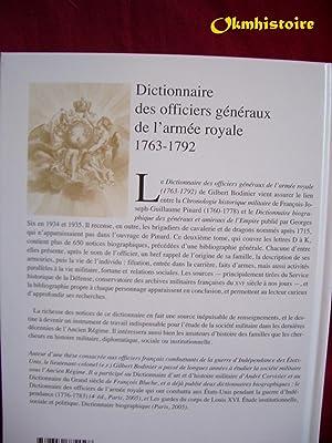 Dictionnaire des officiers généraux de l'armée royale 1763-1792 -------- ...